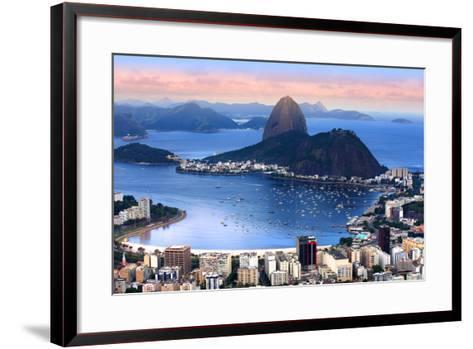 Rio De Janeiro, Brazil in the Evening Sun Light-SNEHITDESIGN-Framed Art Print