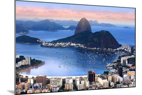 Rio De Janeiro, Brazil in the Evening Sun Light-SNEHITDESIGN-Mounted Photographic Print