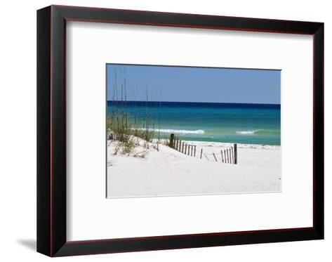 White Sand Beach-Corey Chestnut-Framed Art Print