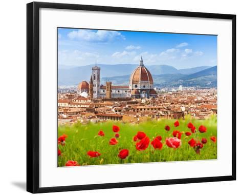Florence, Duomo and Giotto's Campanile.-SerrNovik-Framed Art Print