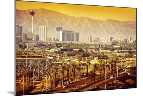 Las Vegas Nevada Cityscape-duallogic-Mounted Photographic Print