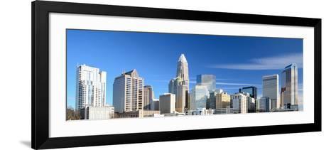 Uptown Charlotte, North Carolina Cityscape-SeanPavonePhoto-Framed Art Print