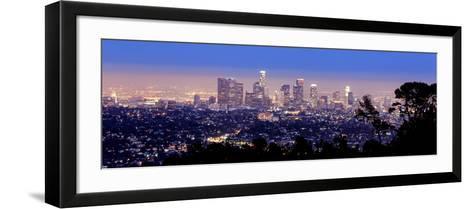 Los Angeles Skyline Panoramic-rebelml-Framed Art Print