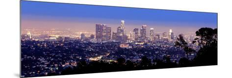 Los Angeles Skyline Panoramic-rebelml-Mounted Photographic Print
