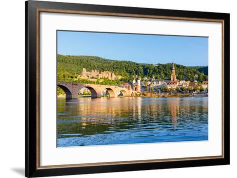 Bridge in Heidelberg, Germany-sborisov-Framed Art Print