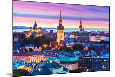 Evening Scenery of Tallinn, Estonia-Scanrail-Mounted Photographic Print