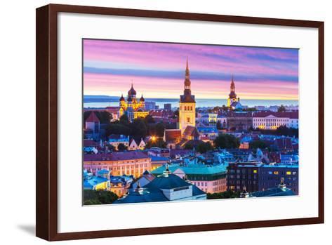 Evening Scenery of Tallinn, Estonia-Scanrail-Framed Art Print