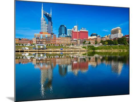 Nashville, Tennessee Downtown Skyline at Cumberland River.-SeanPavonePhoto-Mounted Photographic Print