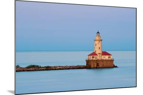 Chicago Harbor Light.-rudi1976-Mounted Photographic Print