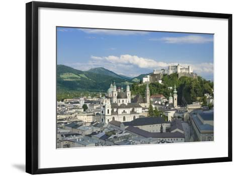 Salzburg City Historic Center with Cathedral-Peter Hermes Furian-Framed Art Print