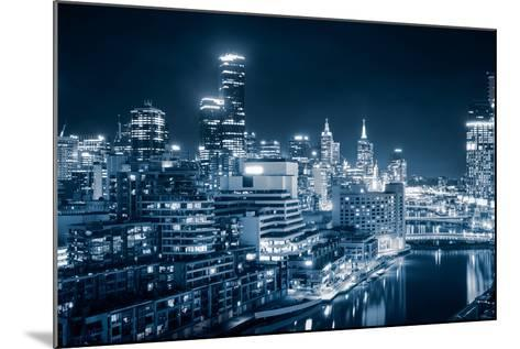 The Beautiful City of Melbourne at Night-kwest19-Mounted Photographic Print