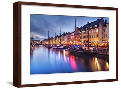 Nyhavn Canal in Copenhagen, Demark.-SeanPavonePhoto-Framed Art Print