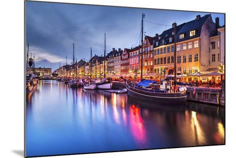 Nyhavn Canal in Copenhagen, Demark.-SeanPavonePhoto-Mounted Photographic Print