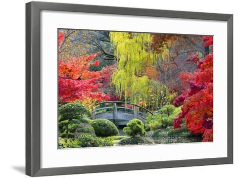 Moon Bridge in the Japanese Gardens-Dean Fikar-Framed Art Print