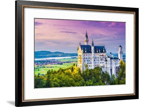 Neuschwanstein Castle in Germany.-SeanPavonePhoto-Framed Art Print
