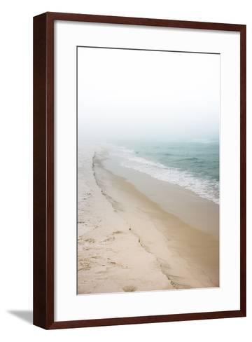Foggy Dreamy Day at the Beach-forestpath-Framed Art Print