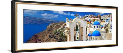 Amazing Santorini - Panoramic View-Maugli-l-Framed Art Print