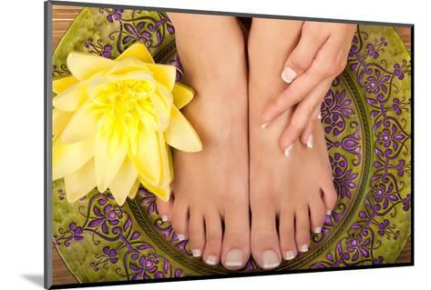 Pedicure and Manicure Spa with Beautiful Flowers-BVDC-Mounted Photographic Print