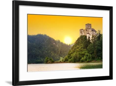 Medieval Niedzica Castle at Czorsztyn Lake in Poland-Patryk Kosmider-Framed Art Print