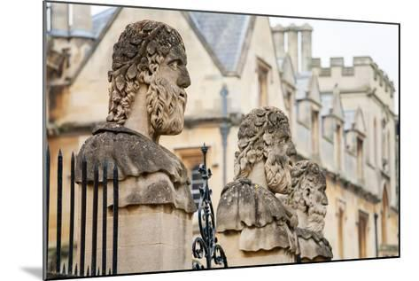 Sheldonian Statues. Oxford,  England-Arsty-Mounted Photographic Print