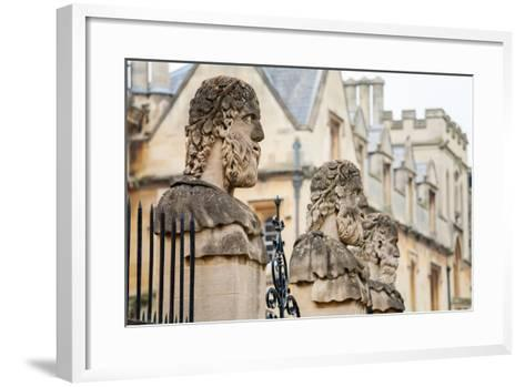 Sheldonian Statues. Oxford,  England-Arsty-Framed Art Print
