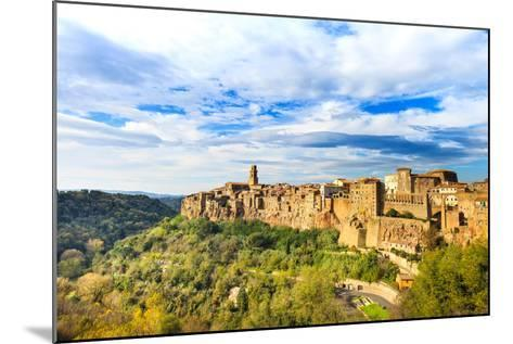 Tuscany, Pitigliano Medieval Village Panorama. Italy-stevanzz-Mounted Photographic Print