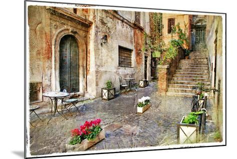 Pictorial Old Streets of Italy,Rome. Artistic Picture in Retro Style-Maugli-l-Mounted Photographic Print