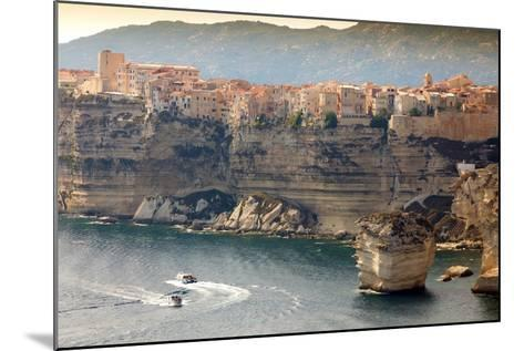 Bonifacio Town on Cliff, Corsica Island, France-smithore-Mounted Photographic Print