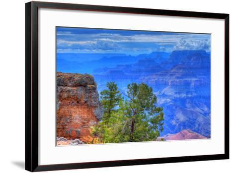 Grand Canyon Storm-diomedes66-Framed Art Print