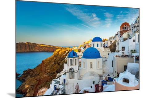 The Famous Blue and White City Oia,Santorini-scorpp-Mounted Photographic Print