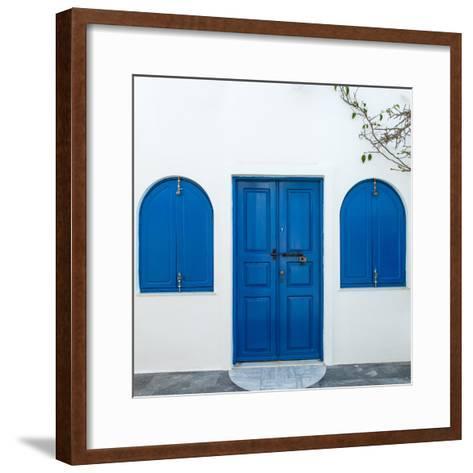The Famous Blue and White City Oia,Santorini-scorpp-Framed Art Print