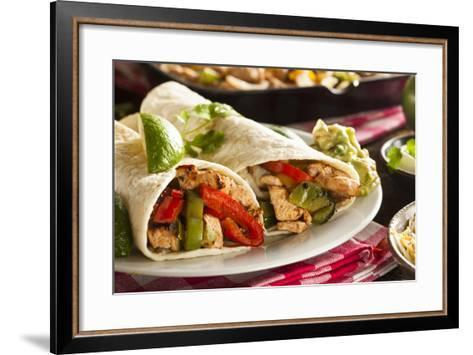 Homemade Chicken Fajitas with Vegetables-bhofack22-Framed Art Print