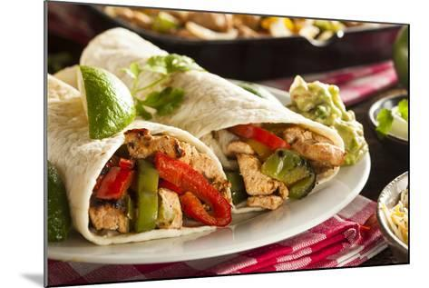 Homemade Chicken Fajitas with Vegetables-bhofack22-Mounted Photographic Print