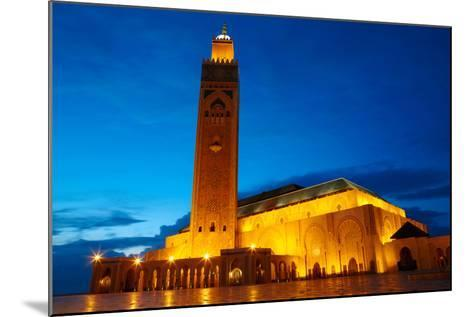 Hassan II Mosque in Casablanca, Morocco Africa-silver-john-Mounted Photographic Print