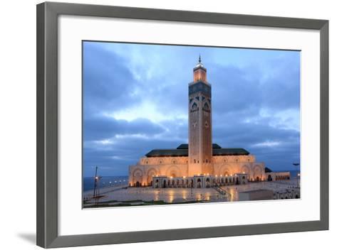 Hassan Ii Mosque in Casablanca-p.lange-Framed Art Print