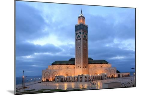 Hassan Ii Mosque in Casablanca-p.lange-Mounted Photographic Print