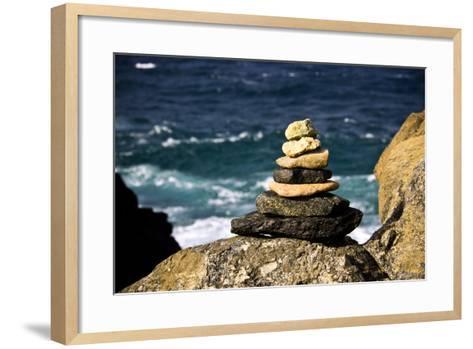 Stone Pile-Redwall-Framed Art Print