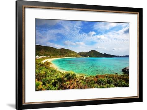 Aharen Beach on the Island of Tokashiki in Okinawa, Japan.-SeanPavonePhoto-Framed Art Print