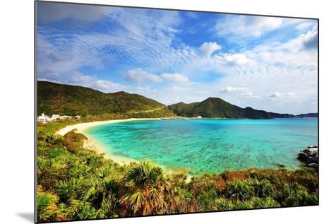 Aharen Beach on the Island of Tokashiki in Okinawa, Japan.-SeanPavonePhoto-Mounted Photographic Print