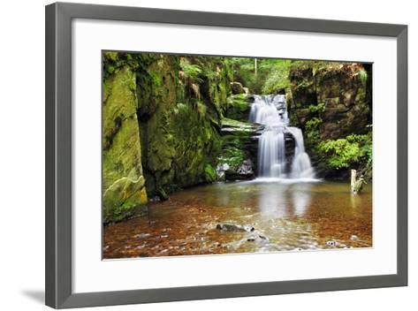 Waterfall in Resov in Moravia, Czech Republic-TTstudio-Framed Art Print