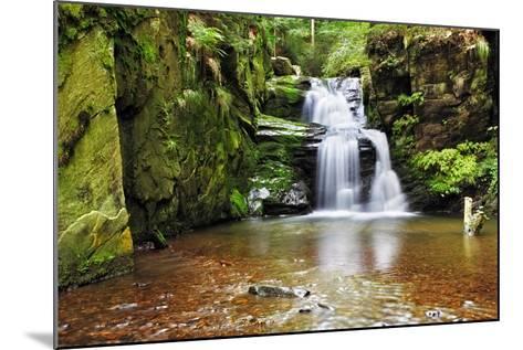 Waterfall in Resov in Moravia, Czech Republic-TTstudio-Mounted Photographic Print