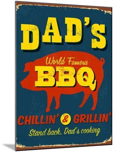 Vintage Design -  Dad's BBQ-Real Callahan-Mounted Photographic Print