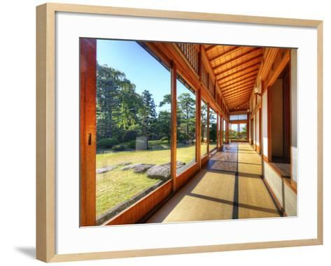 Fujita Memorial Japanese Garden in Hirosaki, Japan.-SeanPavonePhoto-Framed Art Print