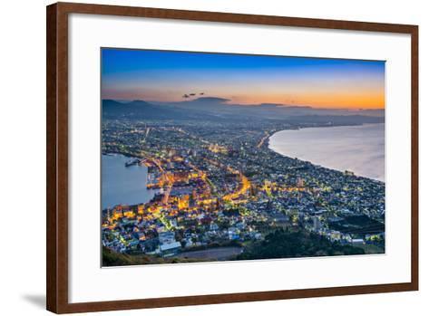 Hakodate, Japan Viewed from Hakodate Mountain.-SeanPavonePhoto-Framed Art Print