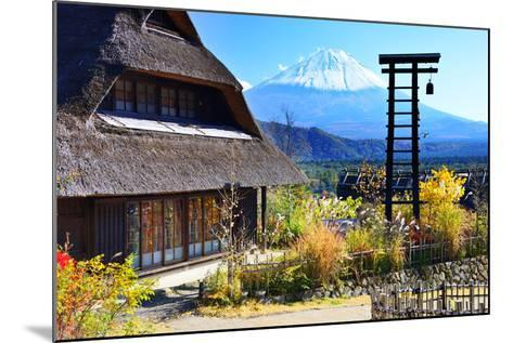 Traditional Japanese Huts near Mt. Fuji, Japan.-SeanPavonePhoto-Mounted Photographic Print