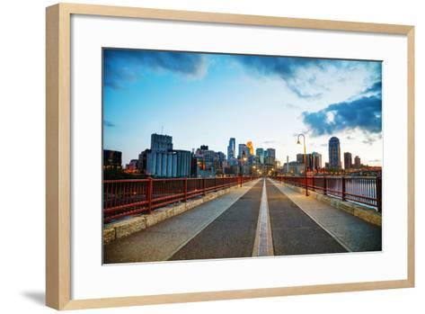 Downtown Minneapolis, Minnesota at Night Time-photo.ua-Framed Art Print