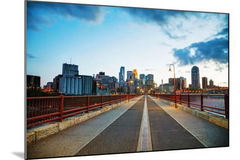 Downtown Minneapolis, Minnesota at Night Time-photo.ua-Mounted Photographic Print