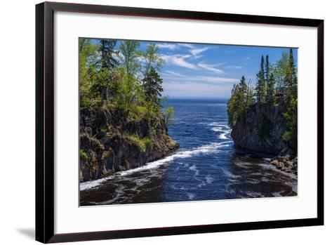 Temperance River, Lake Superior-Steven Gaertner-Framed Art Print