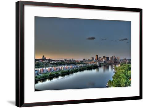 Downtown St. Paul, MN Skyline and Reflection-Klement Gallery-Framed Art Print