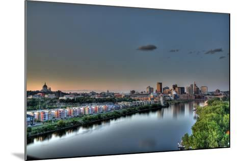 Downtown St. Paul, MN Skyline and Reflection-Klement Gallery-Mounted Photographic Print